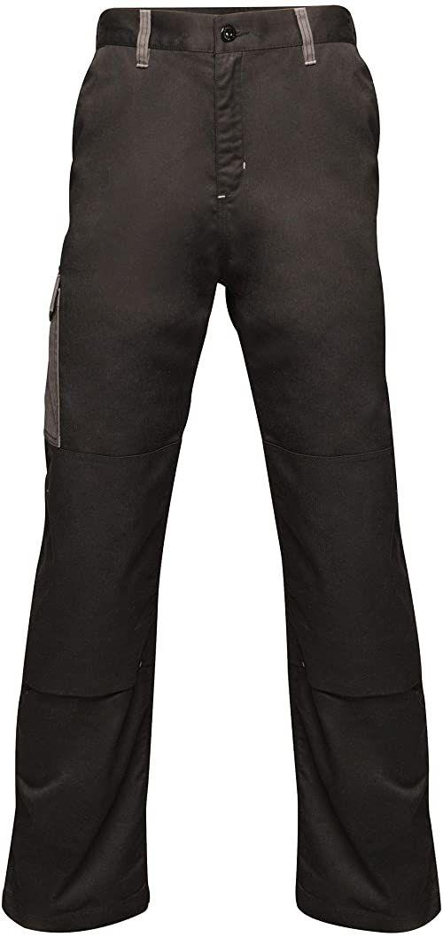 """Regatta męskie profesjonalne kontrastowe wytrzymałe spodnie cargo potrójnie szyte wodoodporne spodnie Black/Seal Grey Size: 36"""""""