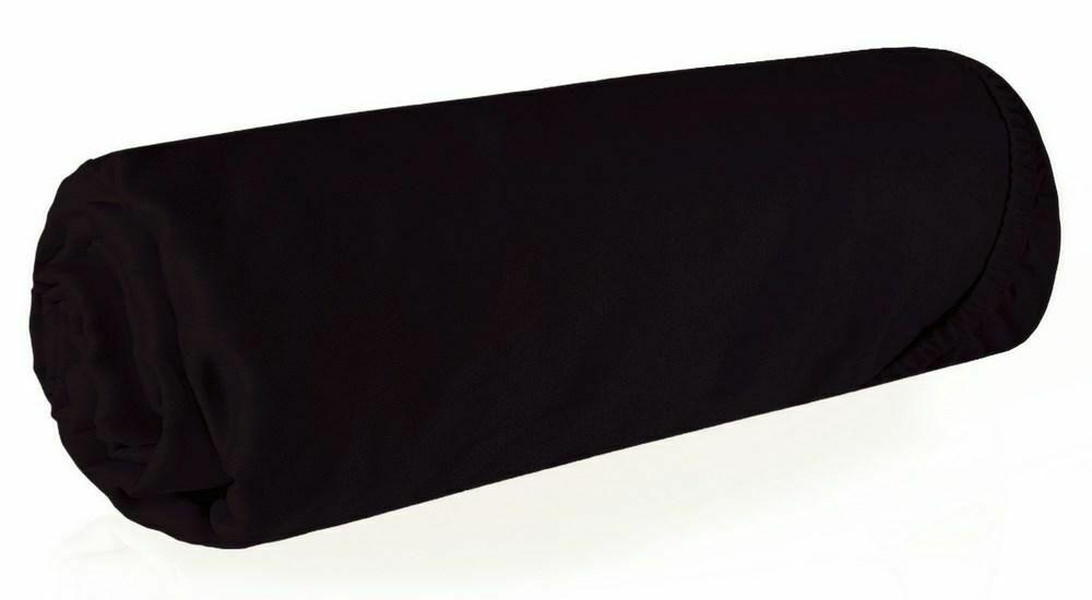 Prześcieradło satynowe z gumką 180x200 czarne jednobarwne Nova 3 Eurofirany