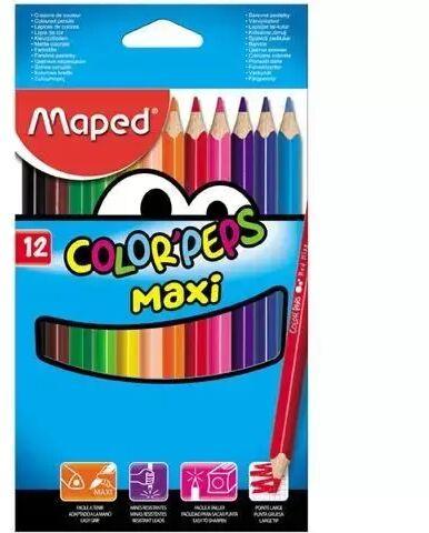Kredki Colorpeps maxi trójkatne 12 kolorów MAPED