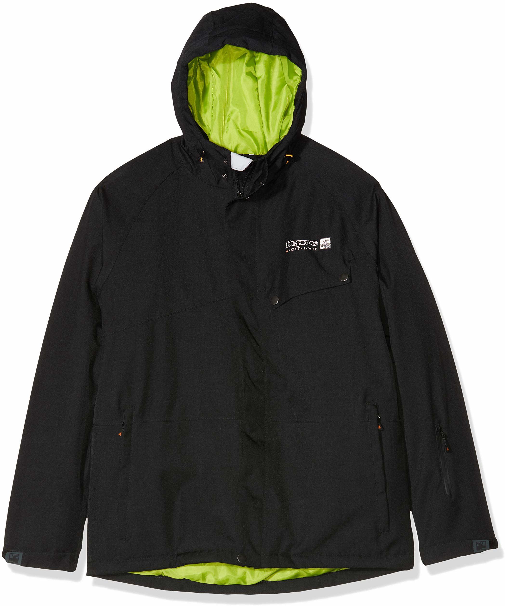 DEPROC-Active Alaska męska kurtka narciarska czarny czarny 5XL