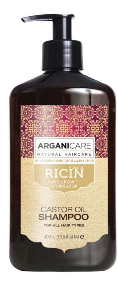 Arganicare Castor Oil Shampoo - Naturalny szampon stymulujący porost włosów 400 ml