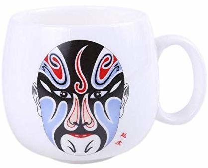 Pekin Opera filiżanka dekoracyjna maska, niebieska