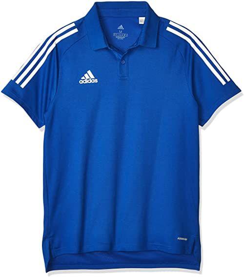 Adidas męska koszulka polo CON20 POLO, błękit królewski/biały, M, ED9237