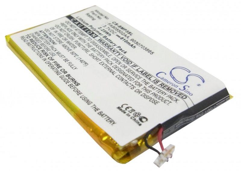 Samsung YP-P3 / FA905502AA 610mAh 2.26Wh Li-Polymer 3.7V (Cameron Sino)