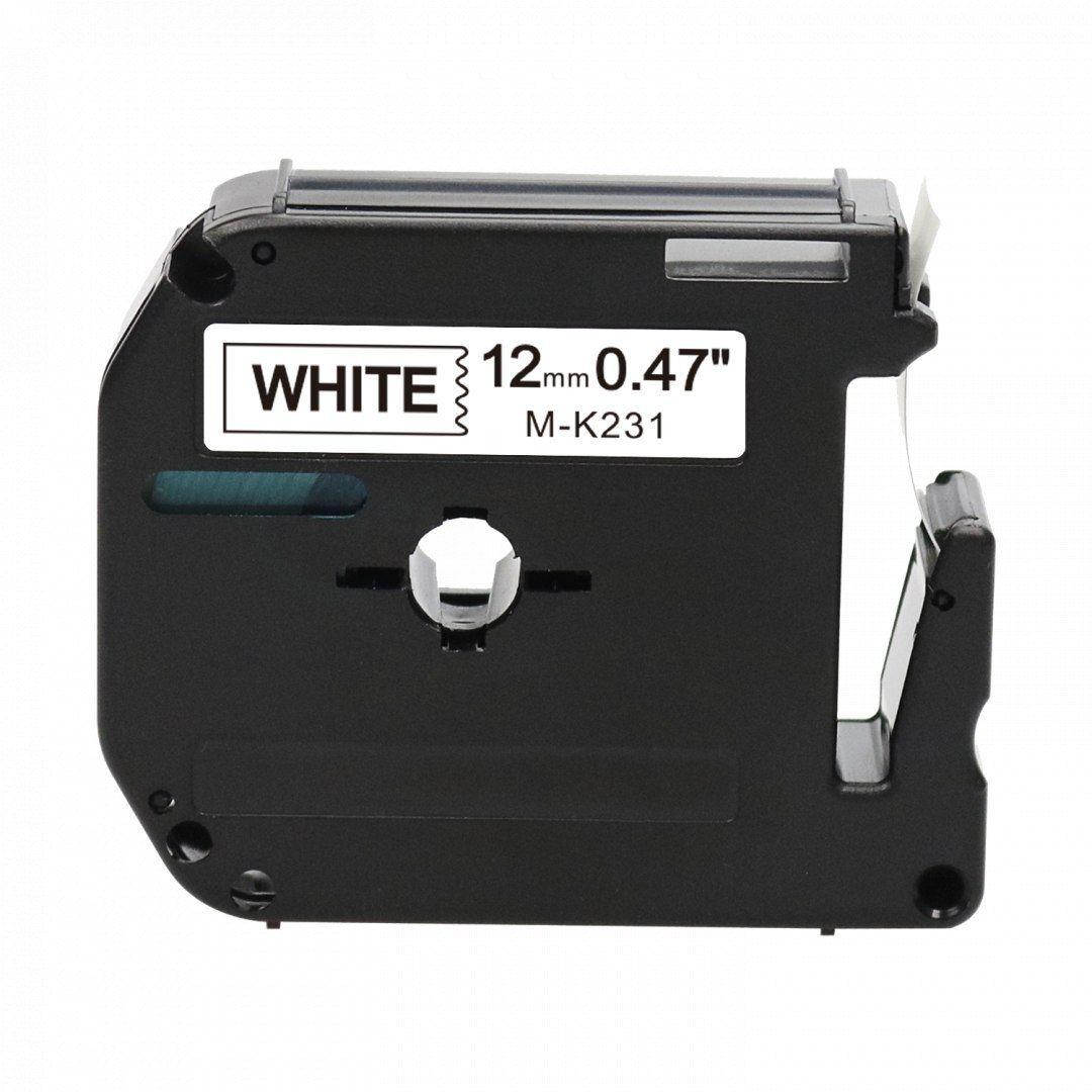 Taśma Brother M-K231 biała 12mm x 8m M-tape nielaminowana - zamiennik OSZCZĘDZAJ DO 80% - ZADZWOŃ! 730811399