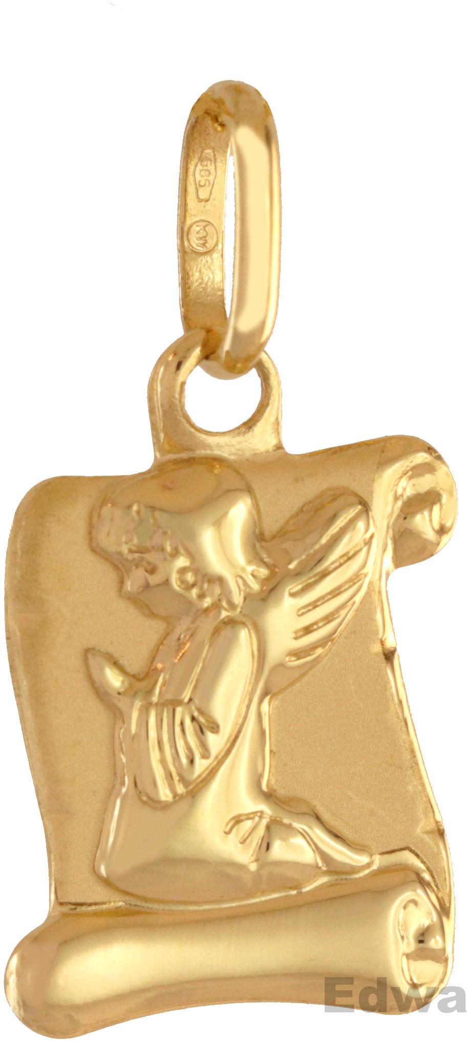 Zawieszka złota Aniołek na papirusie pr.585