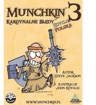 Black Monk Gra Munchkin 3 Kardynalne Błędy Dodatek