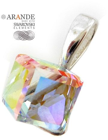 Kryształy WISIOREK AURORA CUBE SREBRO CERTYFIKAT