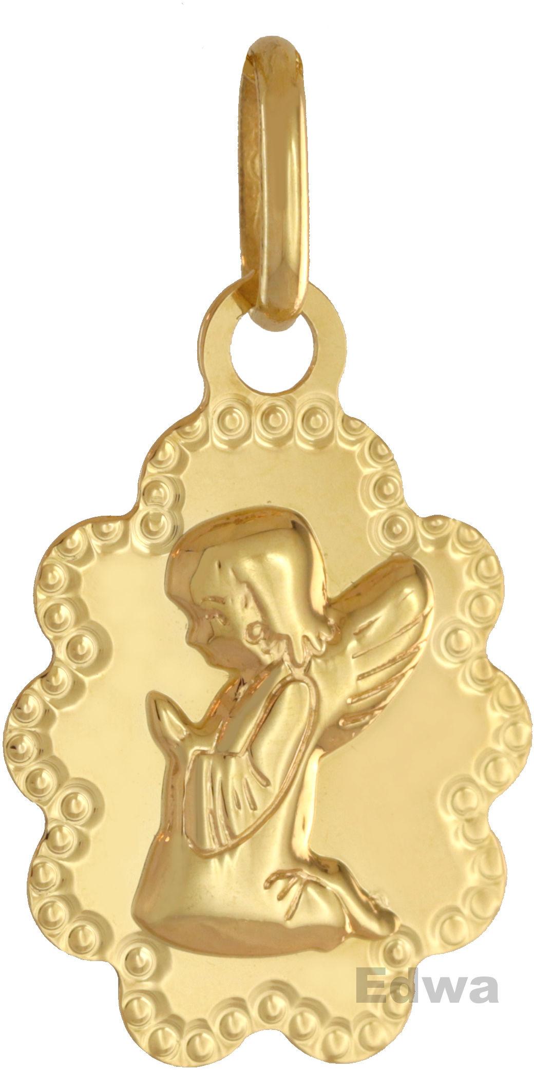 Zawieszka medalik modlący się aniołek pr.585