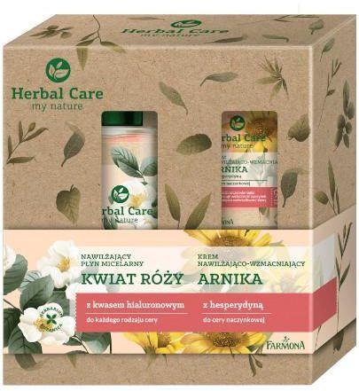 Farmona Herbal Care nawilżający płyn micelarny kwiat róży 400 ml + nawilżająco-wzmacniający krem anika 50 ml [ZESTAW]