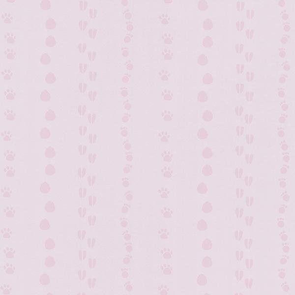 Tapeta 5575-20 happy kids 2 ślady tropy pink