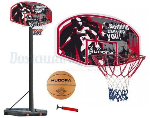 Zestaw do koszykówki HUDORA CHICAGO - kosz obręcz tablica stojak piłka pompka
