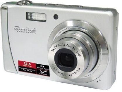 Rollei Compactline 312 aparat cyfrowy (12 megapikseli, 3-krotny zoom optyczny, 8-krotny zoom cyfrowy, wyświetlacz 6,85 cm (2,7 cala), srebrny