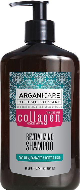 Arganicare Collagen Shampoo - Szampon rewitalizujący do cienkich włosów 400 ml