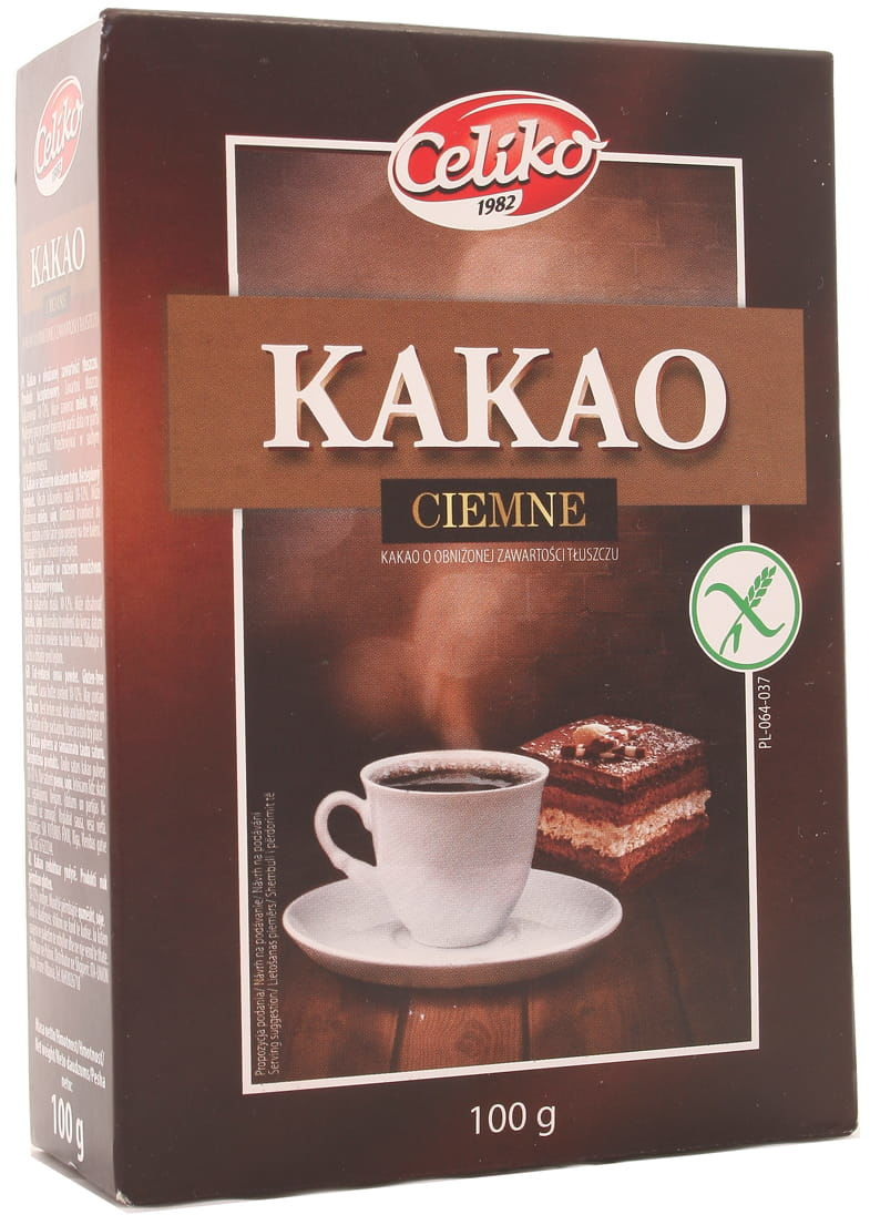 Kakao ciemne bezglutenowe - Celiko - 100g