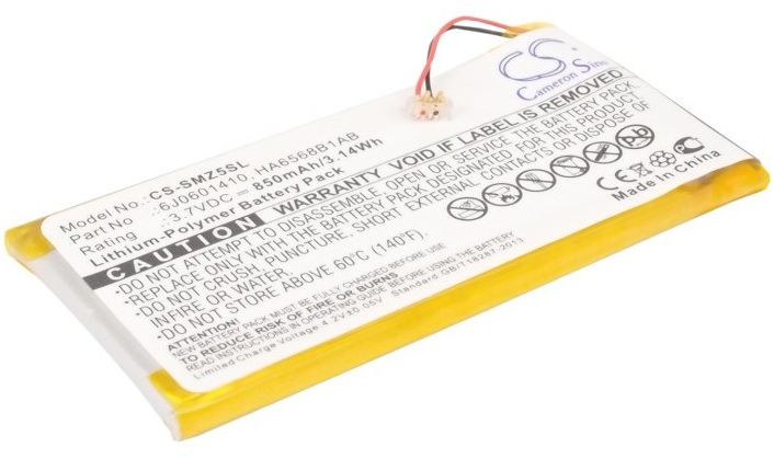 Samsung YP-Z5A / 6J0601410 850mAh 3.15Wh Li-Polymer 3.7V (Cameron Sino)