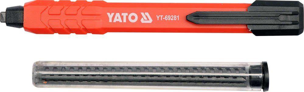 Ołówek stolarski / murarski automatyczny plus 6 grafitowych wkładów Yato YT-69281 - ZYSKAJ RABAT 30 ZŁ