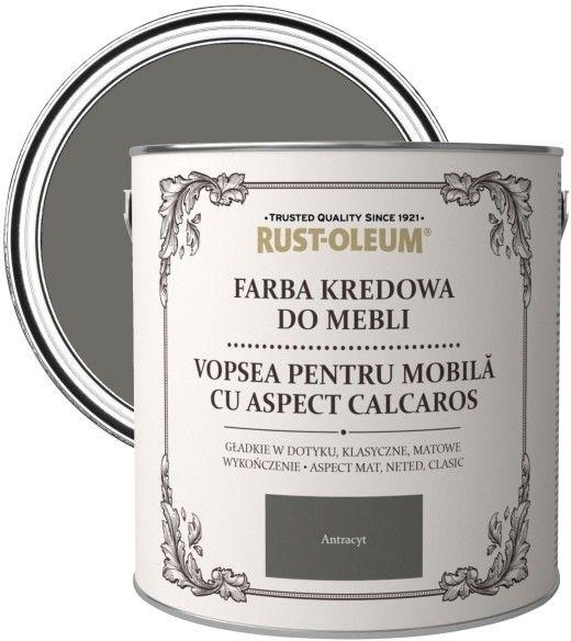 Farba kredowa do mebli Rust-Oleum antracyt 2,5 l