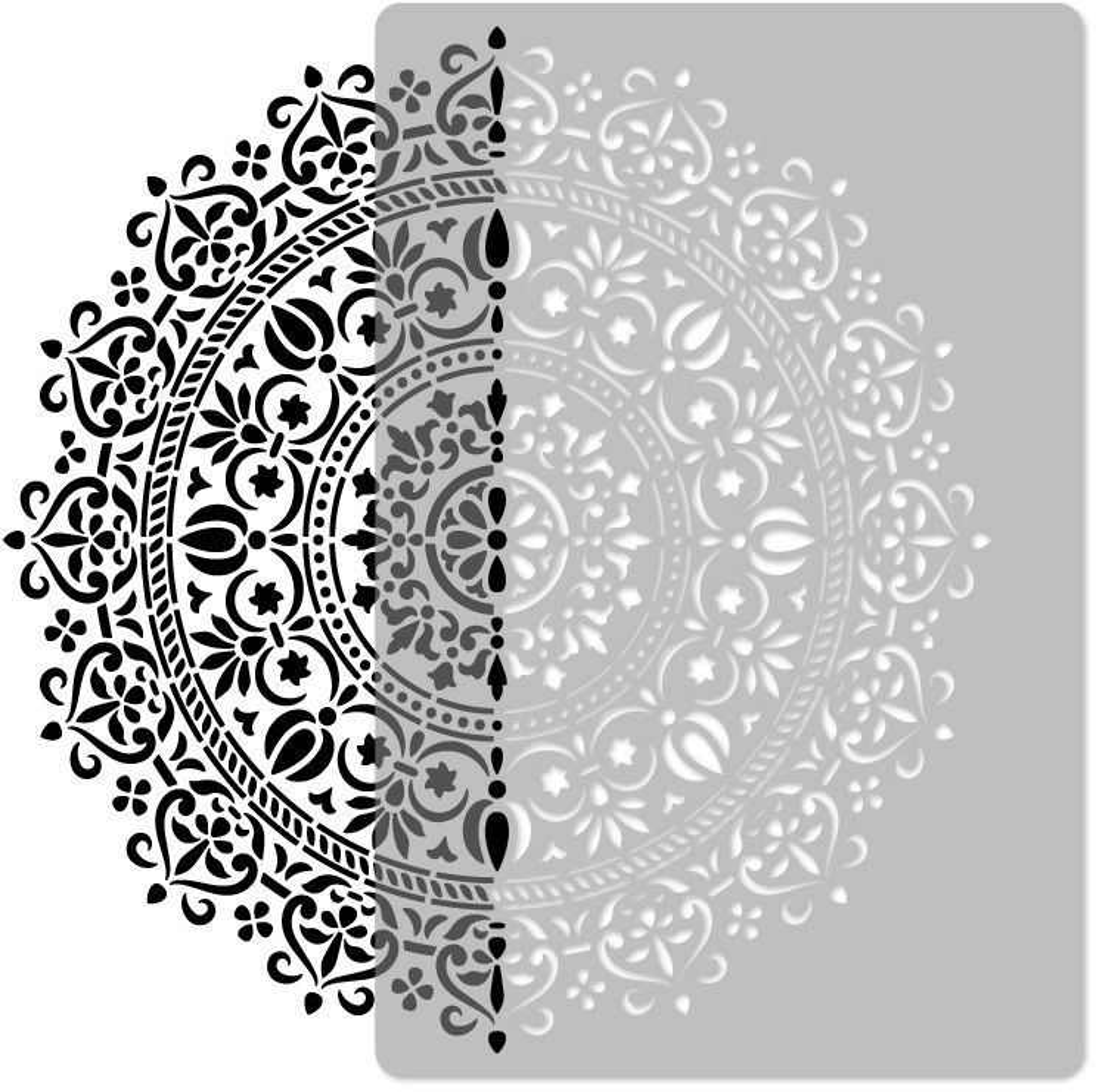 szablon malarski wielokrotny // MANDALA #01 - LARGE (65x95cm)