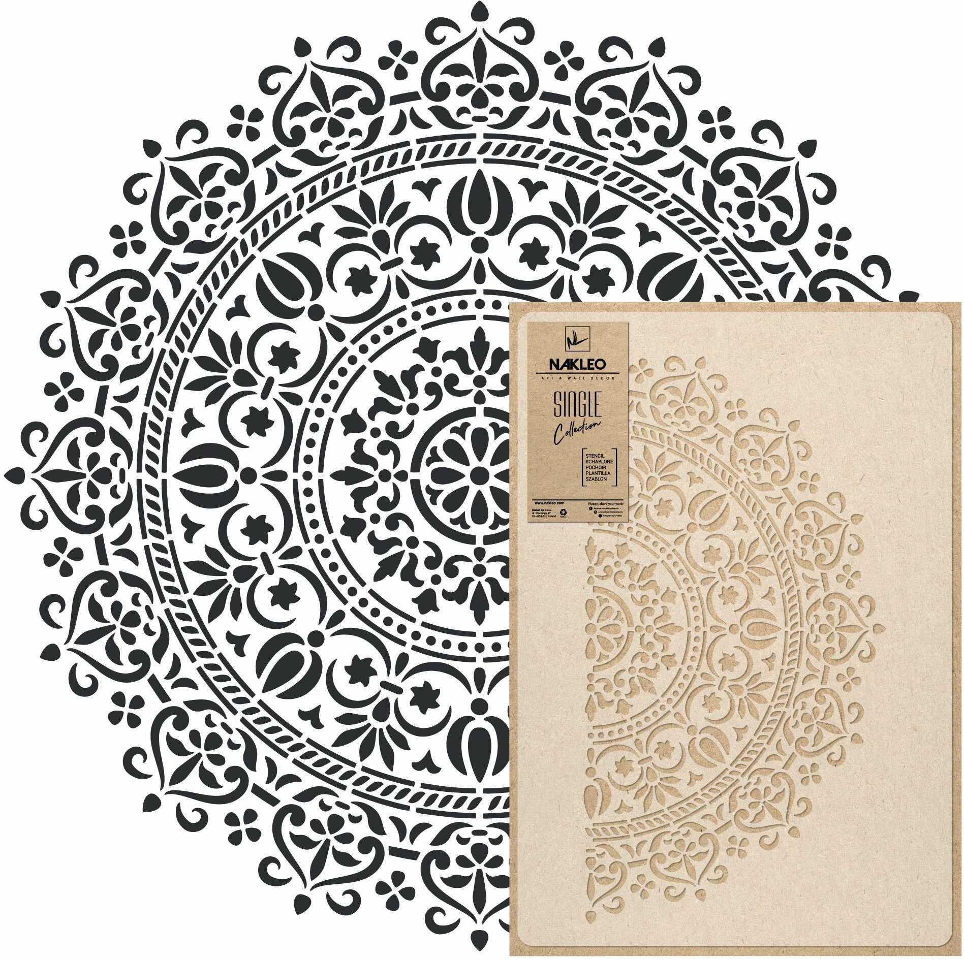 szablon malarski wielokrotny // MANDALA #01 - MEDIUM (45x65cm)