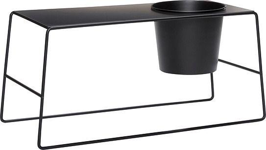 Stolik hübsch czarny metalowy z doniczką