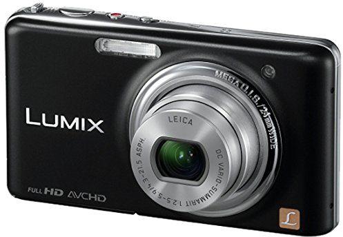Panasonic Lumix DMC-FX77EG-K aparat cyfrowy (12 megapikseli, 5-krotny zoom, ekran dotykowy LCD 8,8 cm (3,5 cala), Full HD, 3D, stabilizacja obrazu), czarny