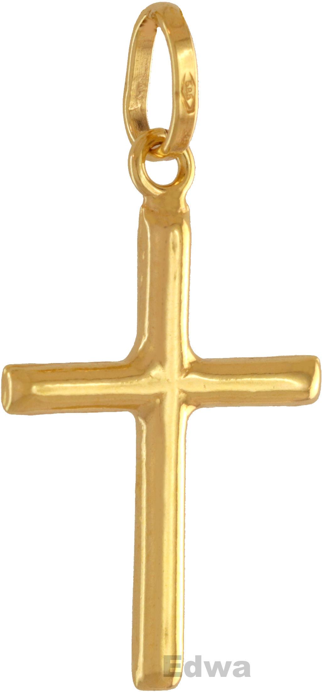 Zawieszka złota Krzyżyk or.585