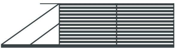 Brama przesuwna Polbram Steel Group Lara 400 x 154 cm lewa
