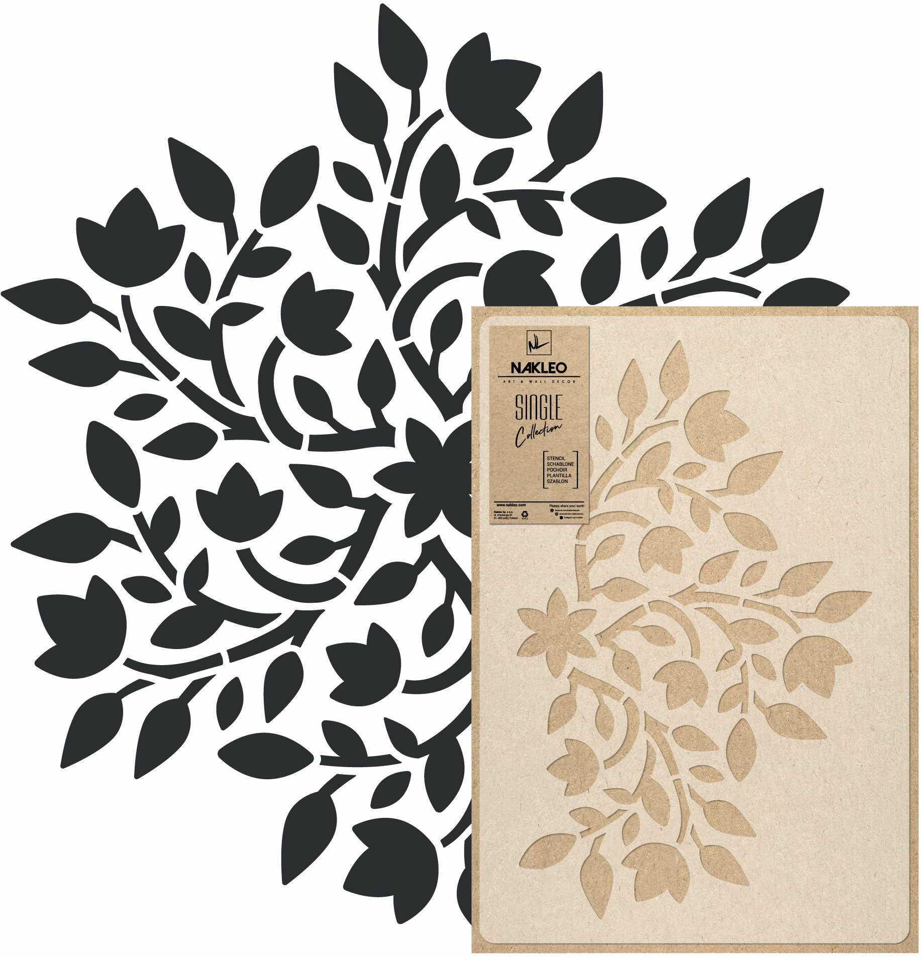 szablon malarski wielokrotny // MANDALA #02 - MEDIUM (45x65cm)