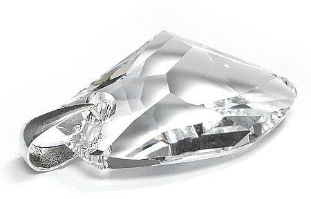 SWAROVSKI SREBRO WISIOREK duży kryształ 39 mm