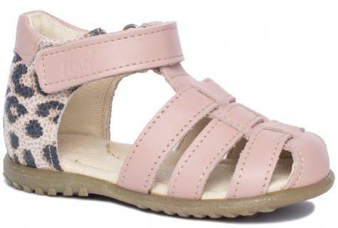 EMEL E1078A-3 ROCZKI sandałki sandały zabudowane - róż panterka