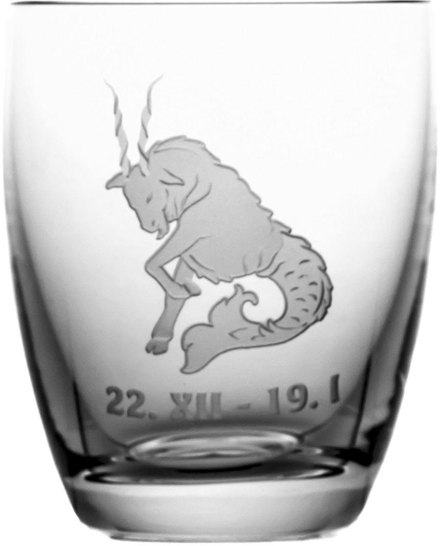 Szklanka znak zodiaku koziorożec na prezent 05618