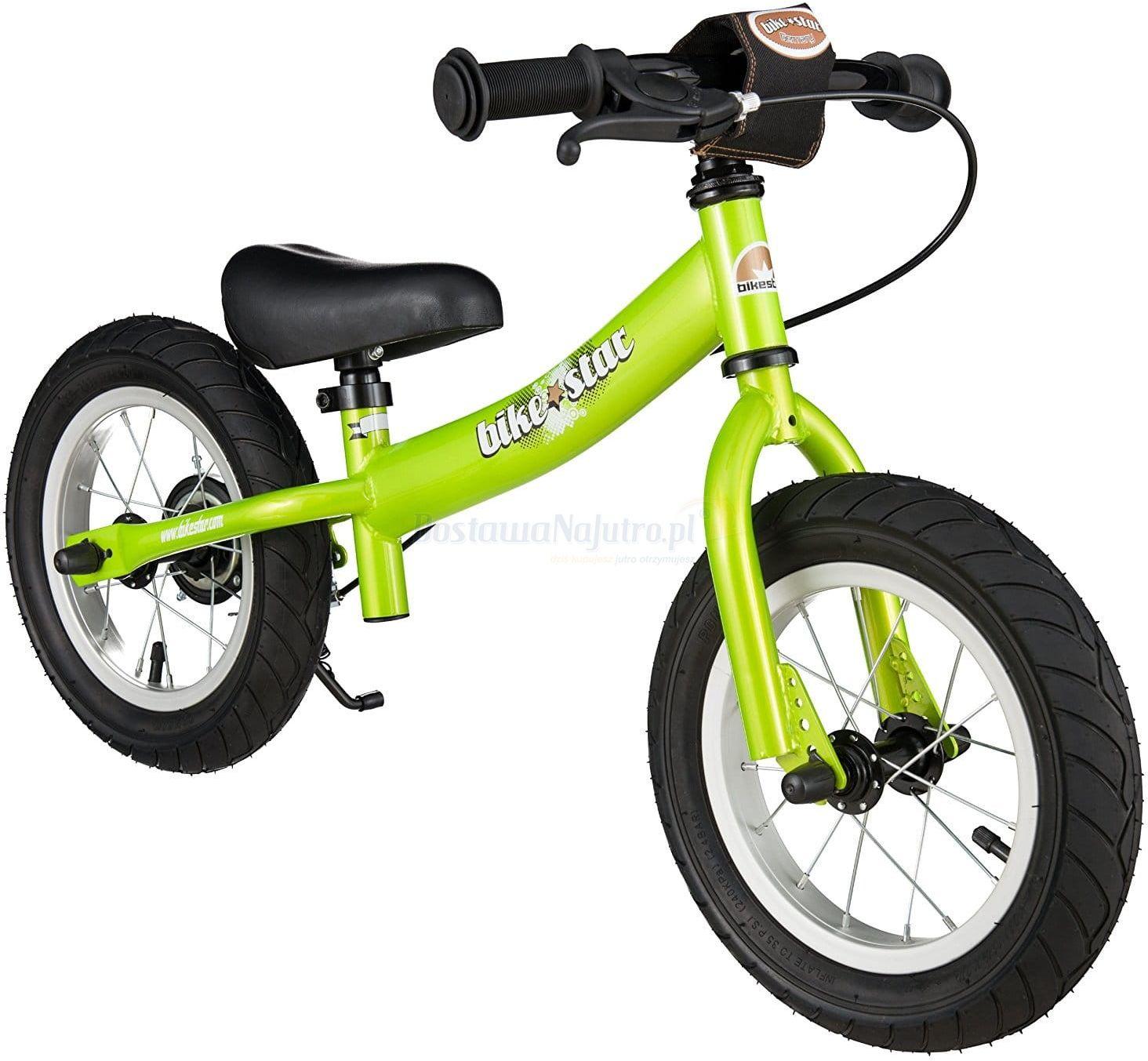 """Rowerek biegowy 12"""" XL BIKESTAR GERMANY sport zielony"""
