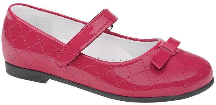 Balerinki KORNECKI 4431 Pink Różowe Lakierki Baleriny na rzepy - Fuksja Różowy