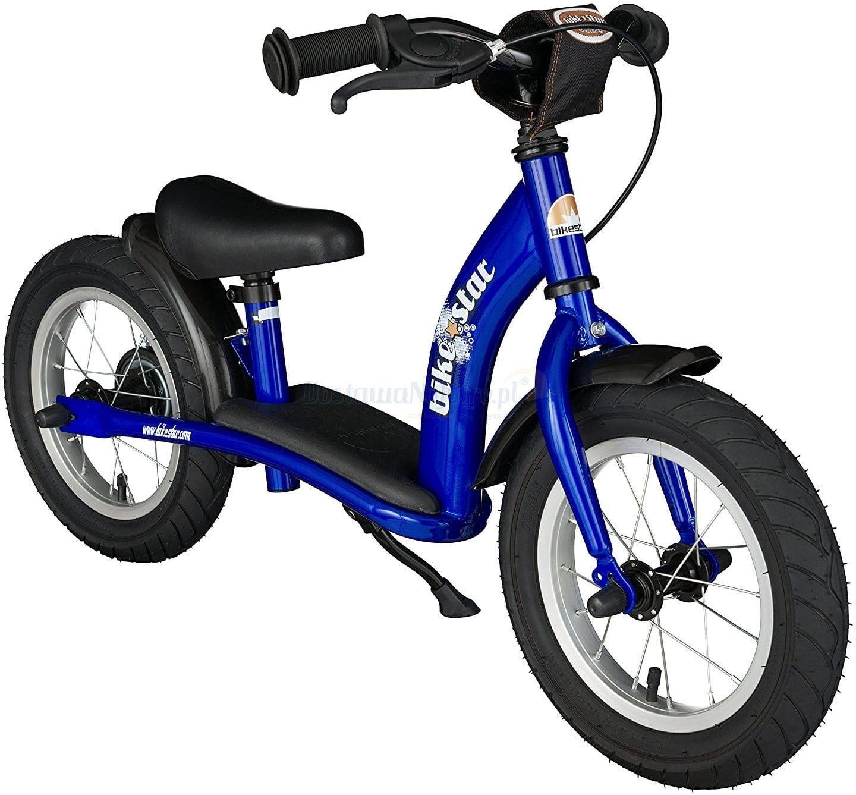 """Rowerek biegowy 12"""" XL BIKESTAR GERMANY classic niebieski"""