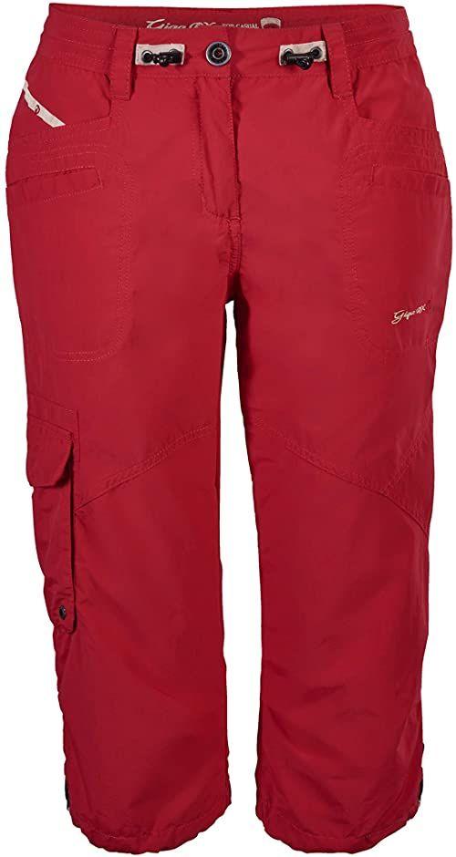 G.I.G.A. DX Damskie spodnie Fenia Legere Capri, nowoczesne czerwone, rozmiar 52