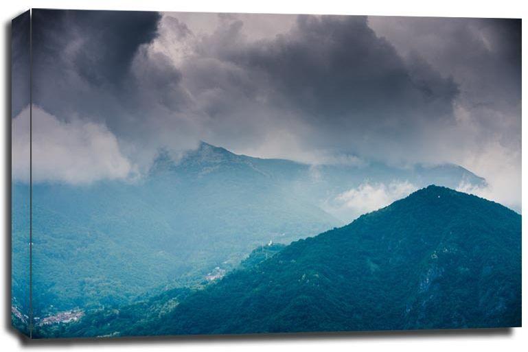 Góry prowincji como - obraz na płótnie wymiar do wyboru: 80x60 cm