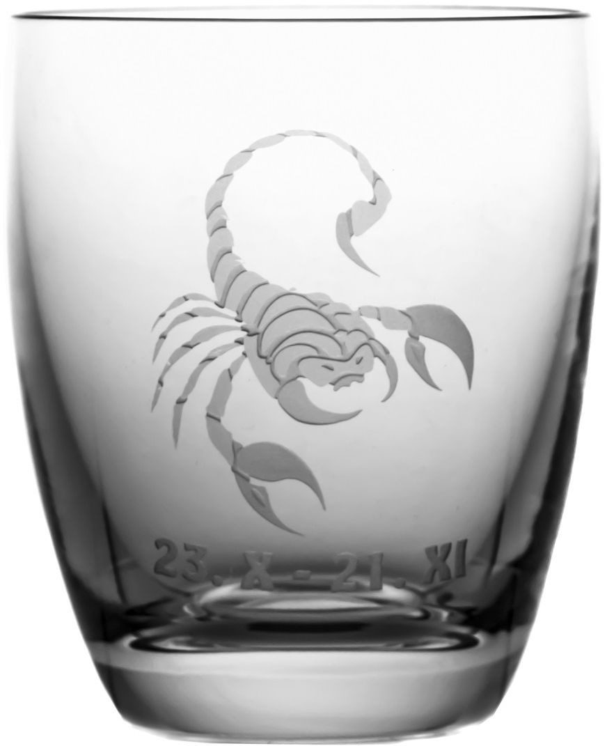 Szklanka znak zodiaku skorpion na prezent (05616)