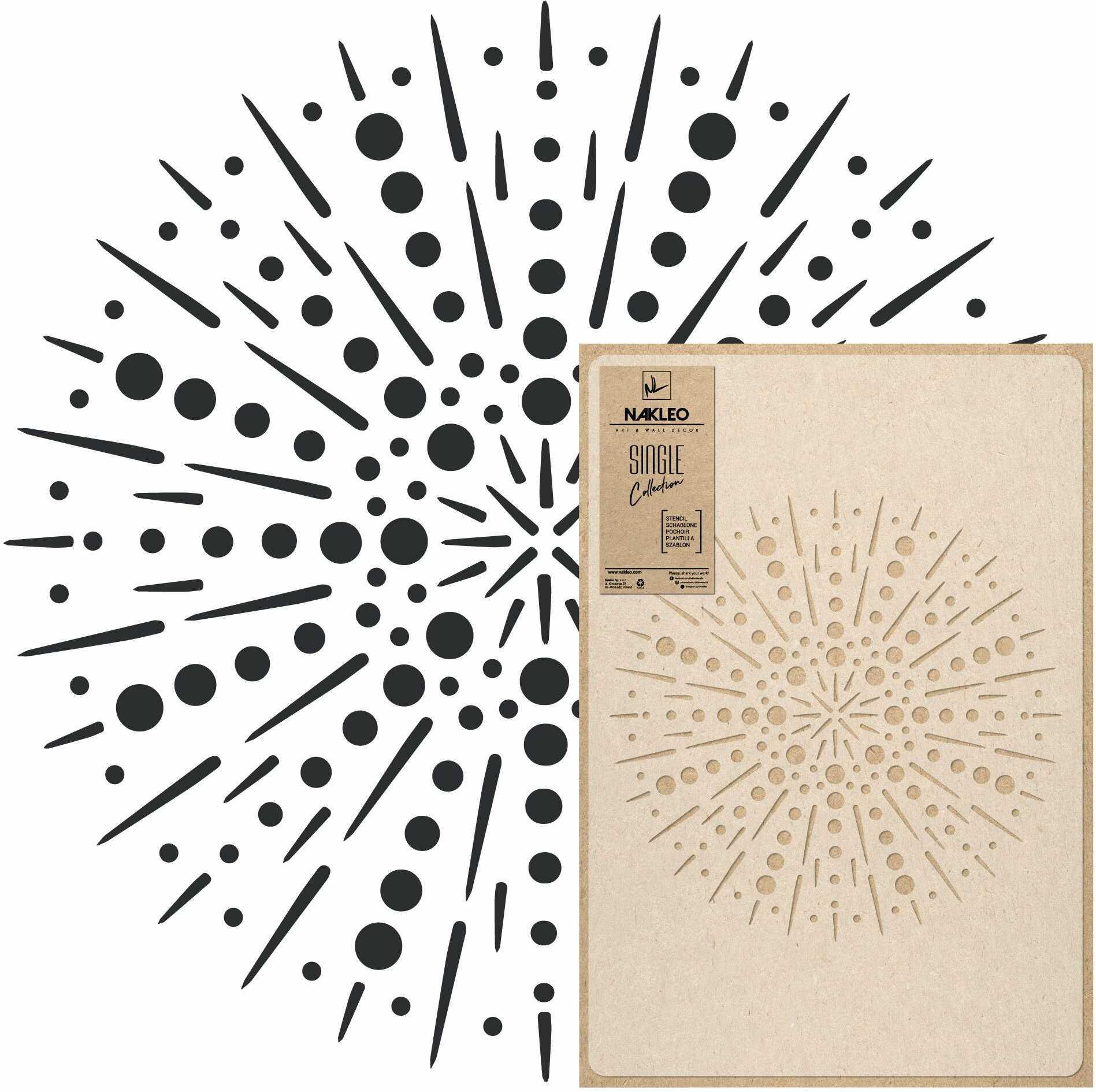 szablon malarski wielokrotny // FAJERWERKI [mandala] - LARGE (65x95cm)