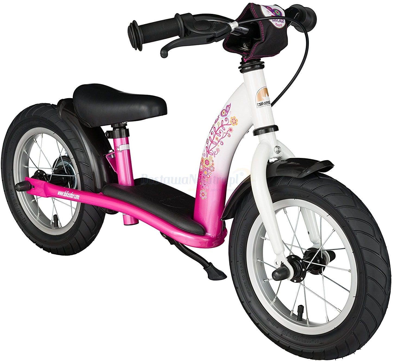 """Rowerek biegowy 12"""" XL BIKESTAR GERMANY classic kolor różowo biały"""