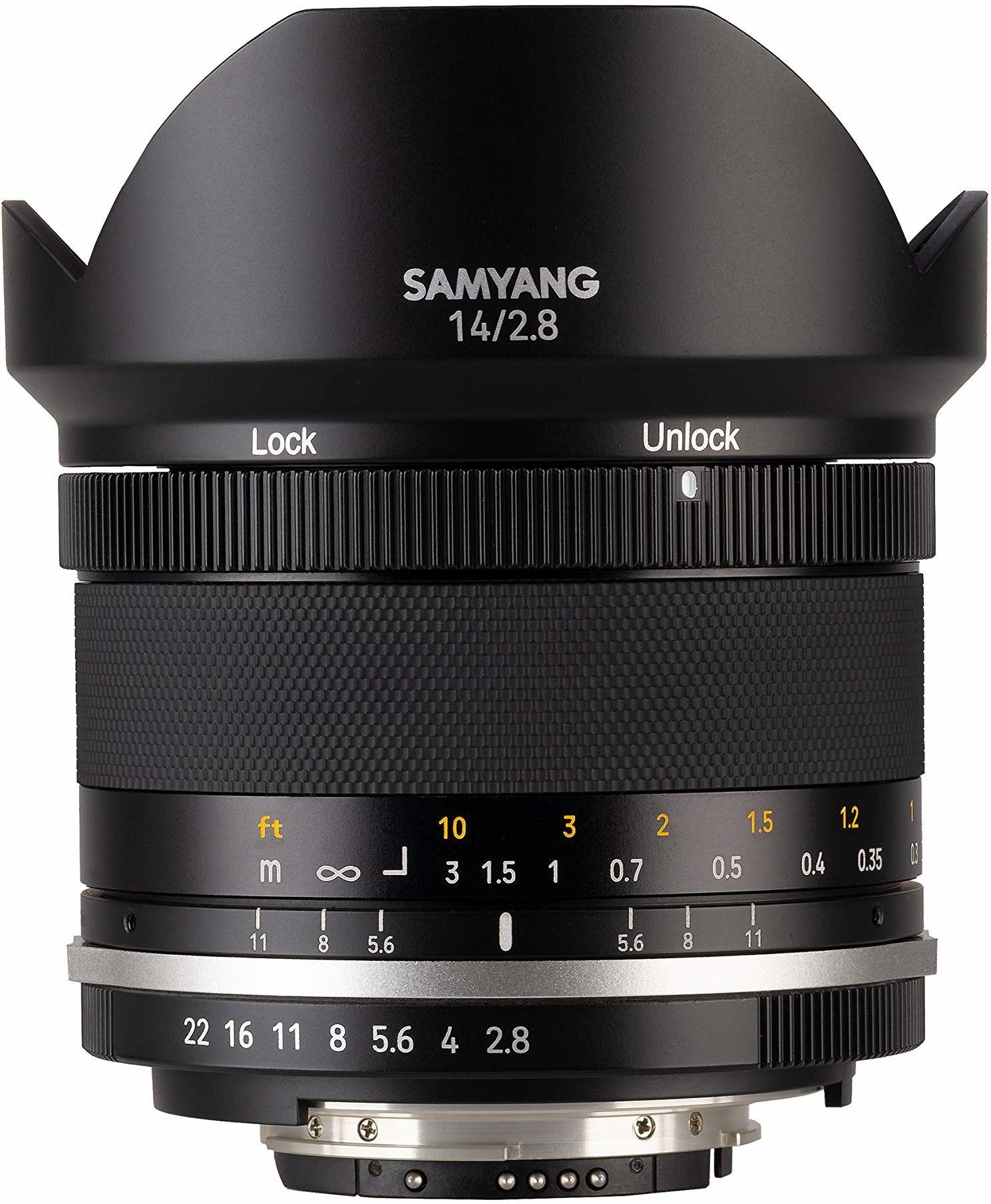 Samyang 14 mm F2,8 Mk2 AE ręczna soczewka ogniskowa do aparatów Nikon