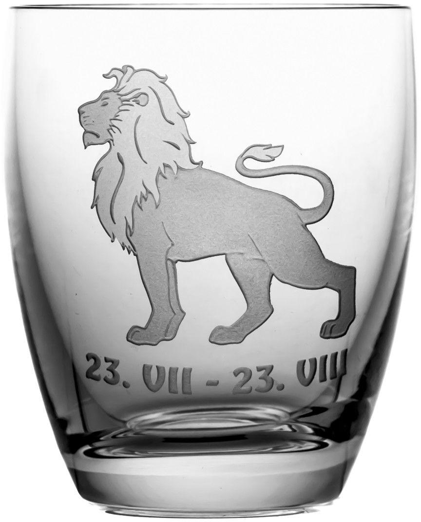 Szklanka znak zodiaku lew na prezent (05613)