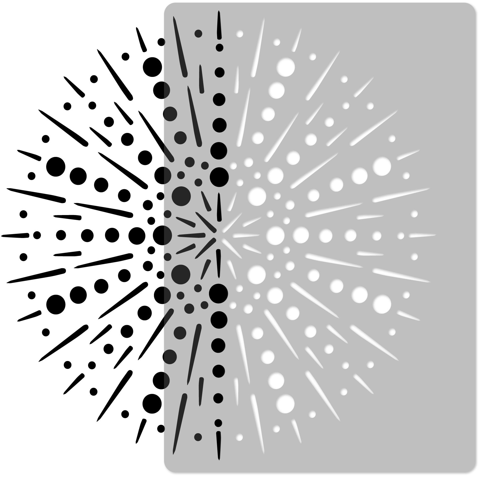 szablon malarski wielokrotny // FAJERWERKI [mandala] - MEDIUM (45x65cm)