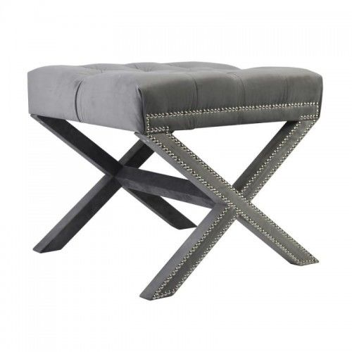 Elegancki stołek Rafael z pikowanym siedziskiem
