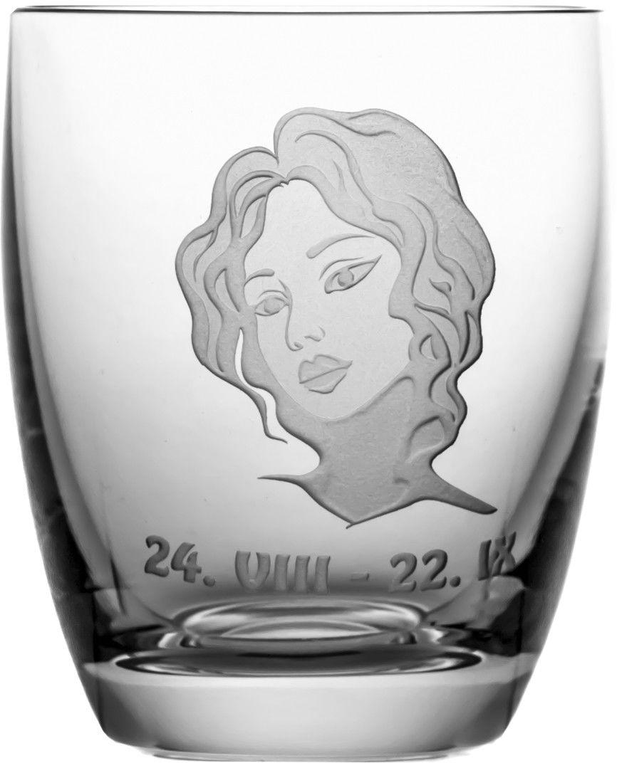 Szklanka znak zodiaku panna na prezent 05614
