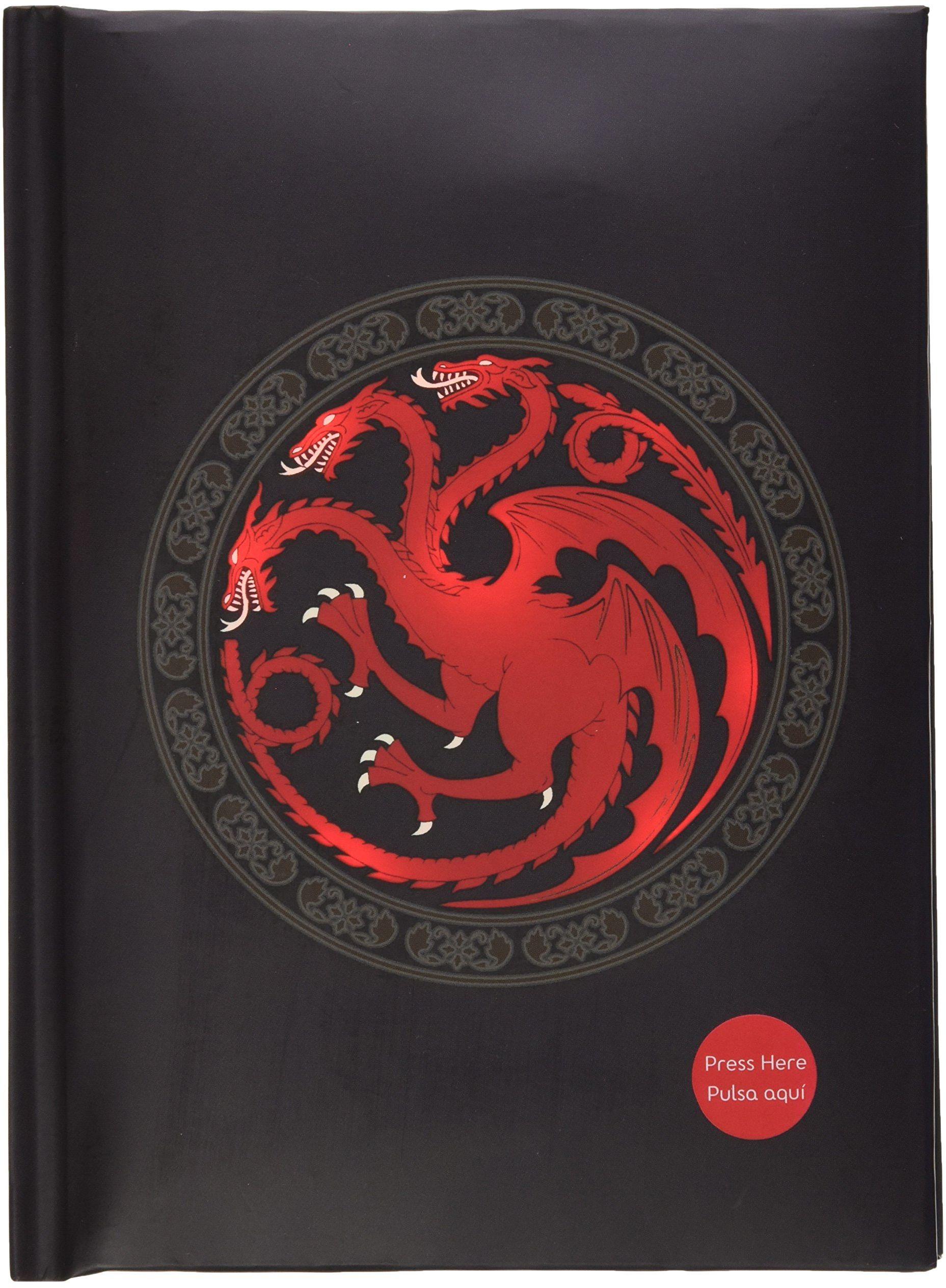 Star images Gra o Tron Targaryen podświetlany notatnik