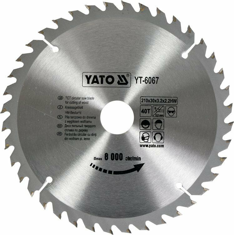 TARCZA WIDIOWA 210X40TX30MM Yato YT-6067 - ZYSKAJ RABAT 30 ZŁ