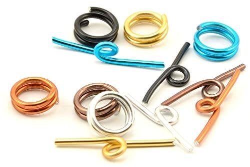 Vaessen Creative Aluminiowe zamknięcie z przetyczką wielokolorowe 6 sztuk, aluminium, 0,5 x 0,5 x 0,2 cm
