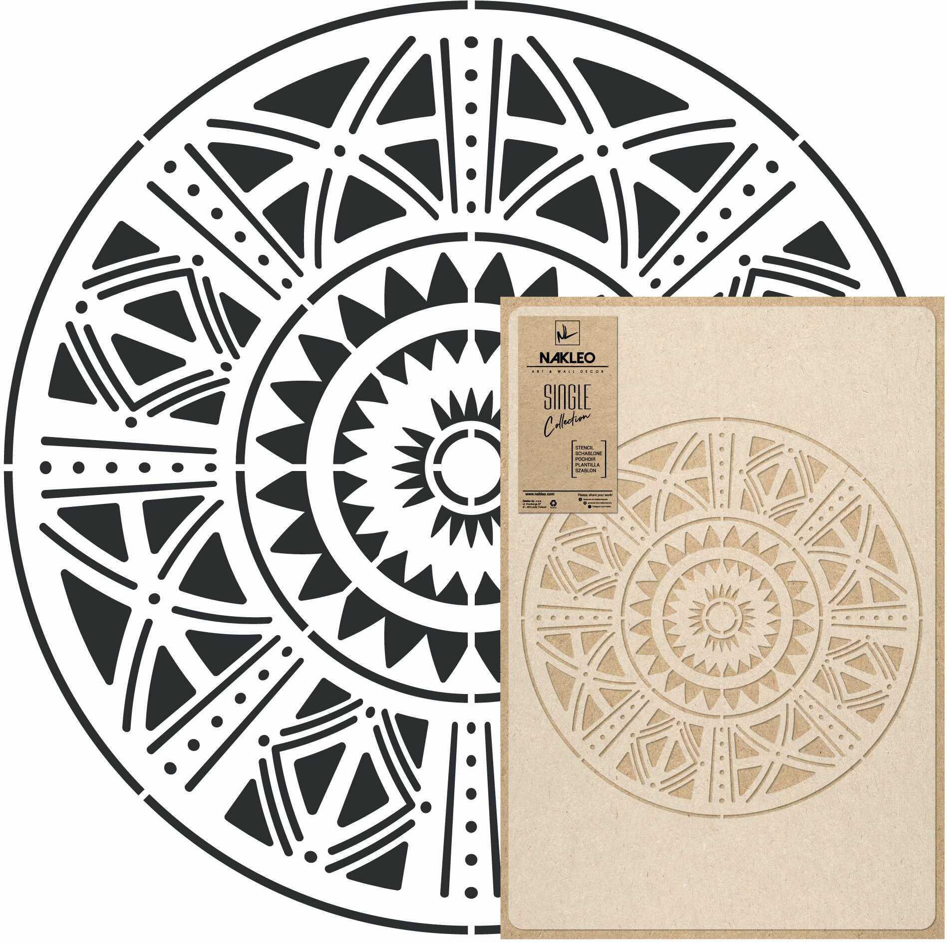szablon malarski wielokrotny // AFRICAN MANDALA - MEDIUM (45x65cm)