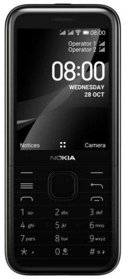 Nokia Telefon komórkowy 8000 4G Dual SIM czarny